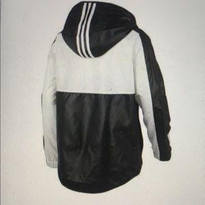 NWT Adidas Boy Core Wind Hooded Jacket (M/10-12)